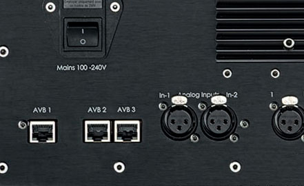 AIA AVB Audio Video Bridging RJ45 network ports with switch