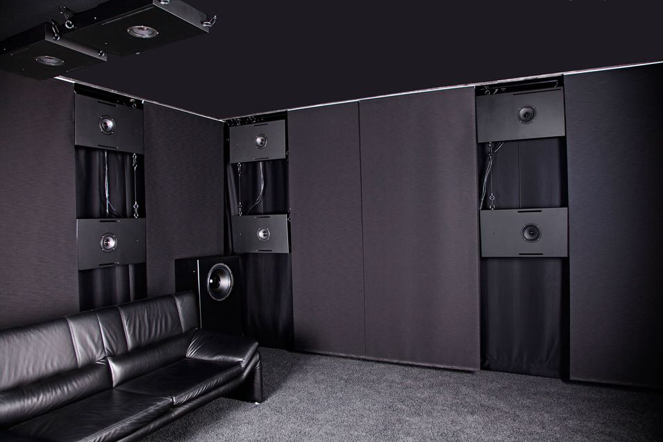 legacy setup of AIA showroom surround speakers CCRM6 with Auro3D High