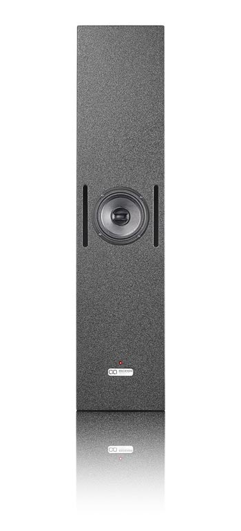"CCRM6-SB Active high-performance 6,5"" shallow point source coaxial cinema monitor speaker front view"